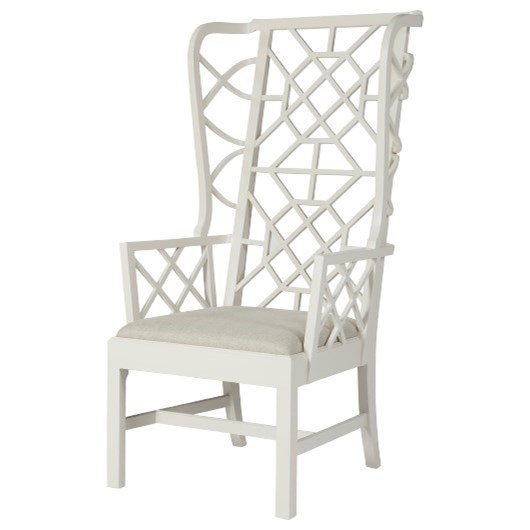 Composition SoMa Wingback Accent Chair by Theodore Alexander at Baer's Furniture