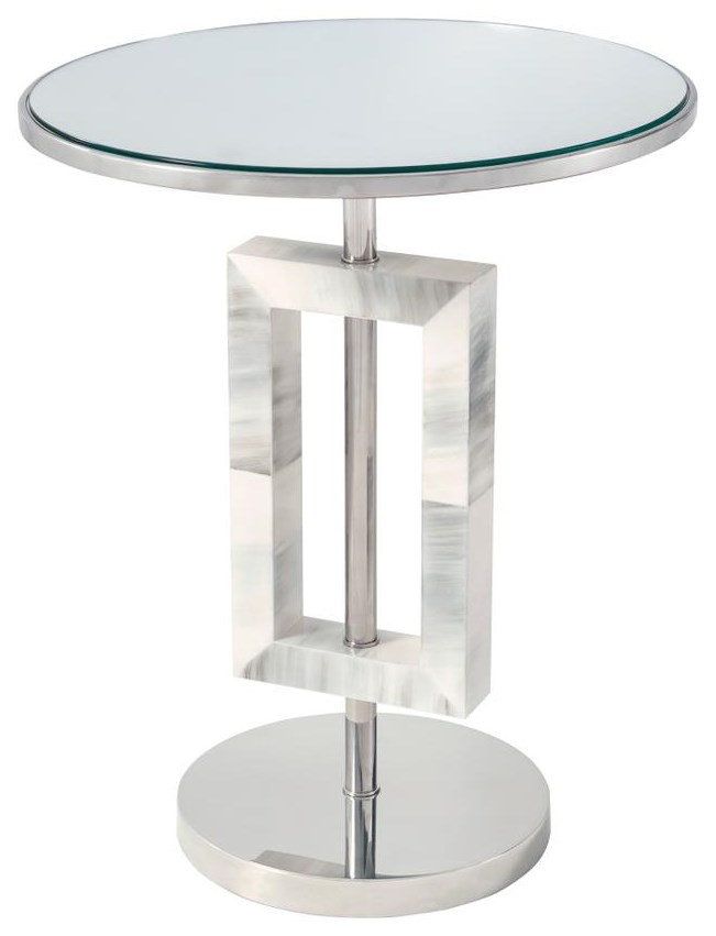 Composition Round Accent Table by Theodore Alexander at Baer's Furniture