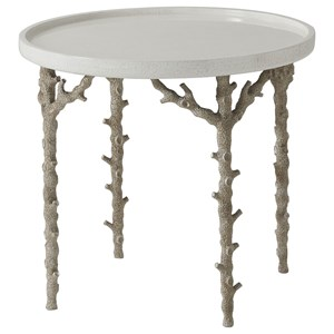 Pacific Reef Accent Table with Coral Look Legs