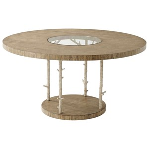 Wynwood II Round Dining Table with Coral Look Posts