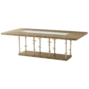 Wynwood II Rectangular Dining Table with Coral Look Posts