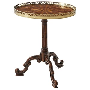 Radiating Parquetry Lamp Table