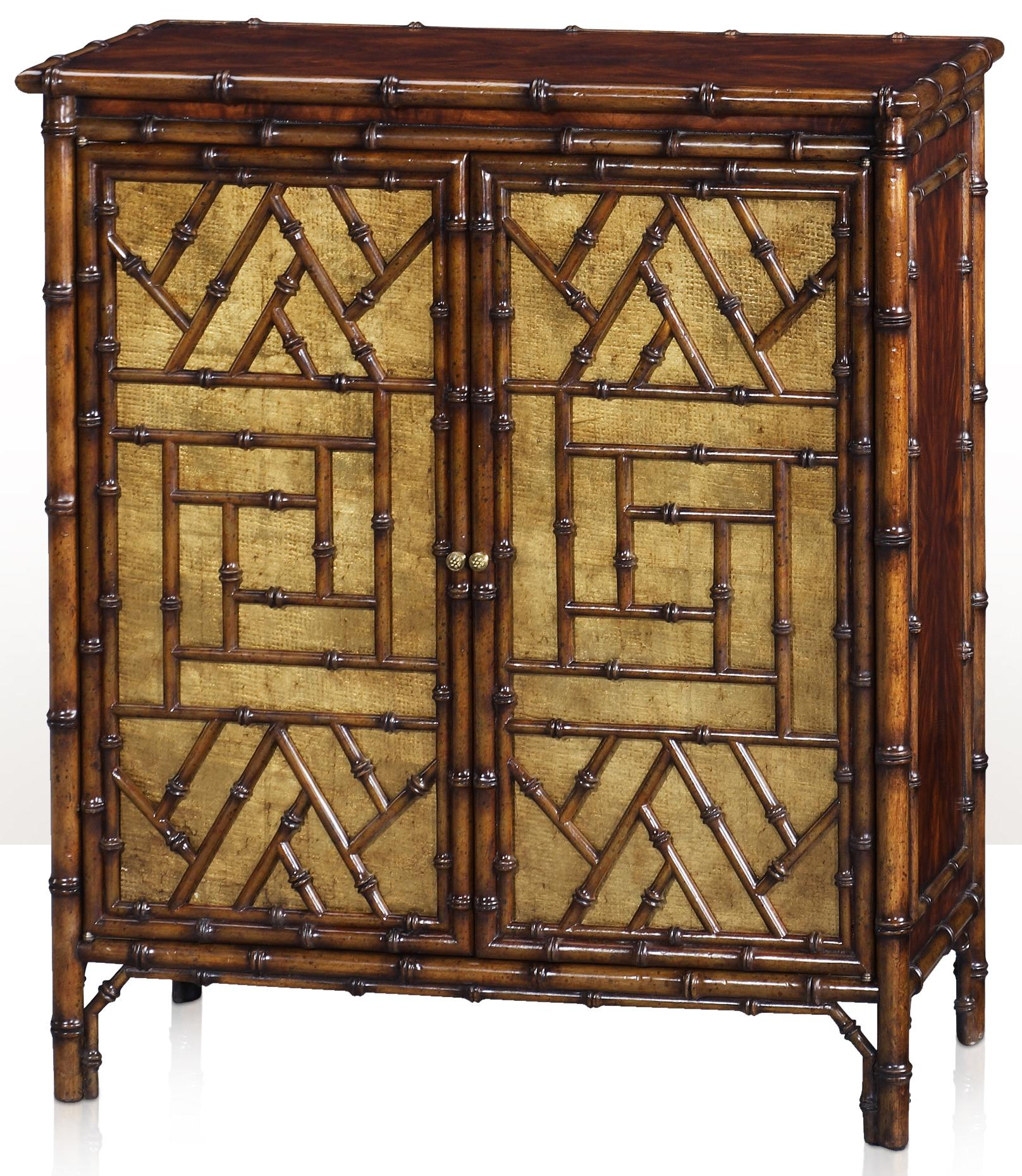 Indochine The Argent Cabinet by Theodore Alexander at Alison Craig Home Furnishings