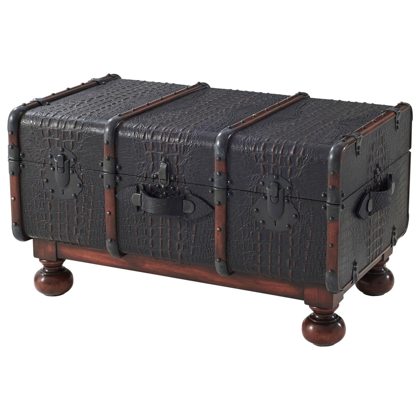 Kalahari The Kalahari Steamer Trunk by Theodore Alexander at Baer's Furniture