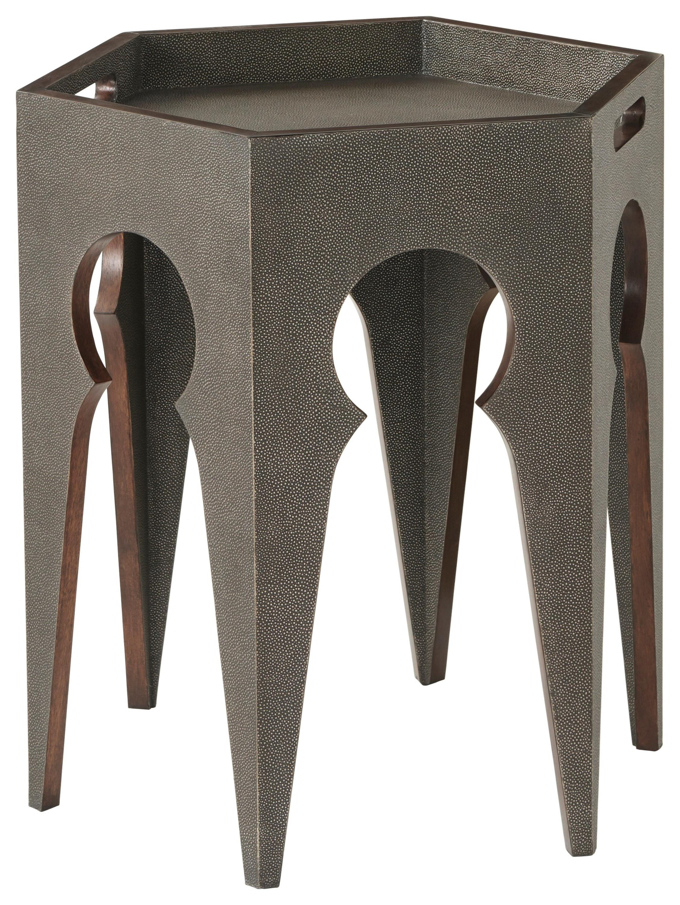 Radium Hexagonal Accent Table by Theodore Alexander at Baer's Furniture