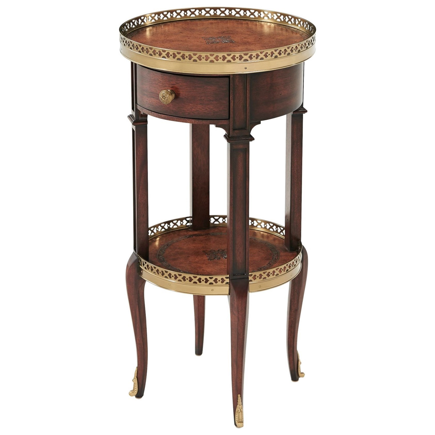 Tables Louis XVI Circle Lamp Table by Theodore Alexander at Alison Craig Home Furnishings