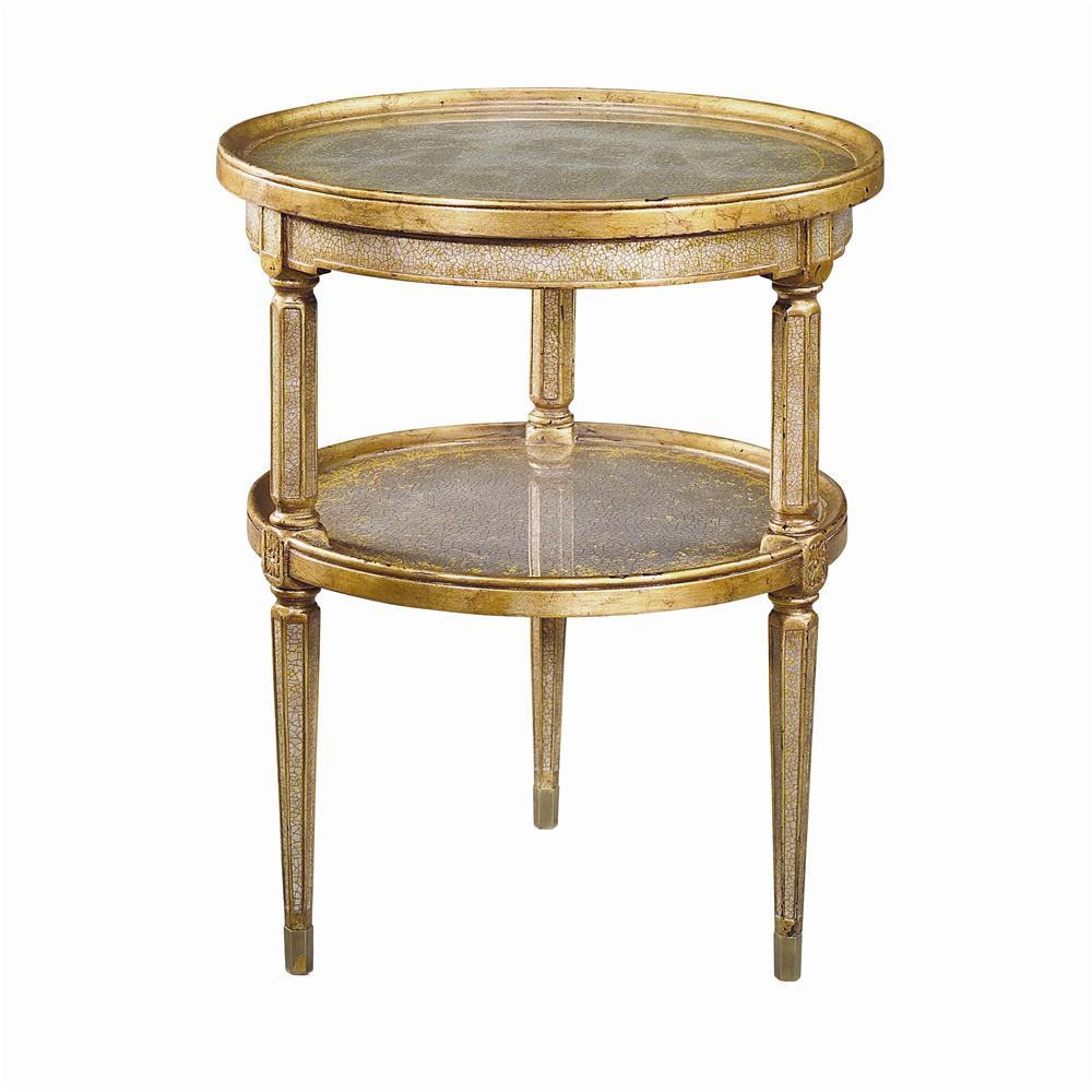Tables 2 Tier Circular End Table by Theodore Alexander at Baer's Furniture