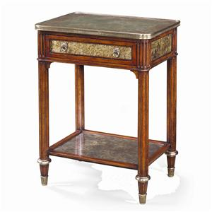 Theodore Alexander Tables Rectangular Paneled Side Table