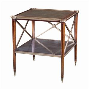 Theodore Alexander Tables Square Paneled Side Table