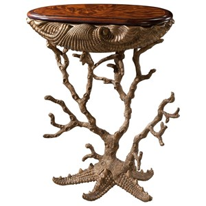 Gilt Grotto Table with Clam Shell, Coral, and Starfish Motif