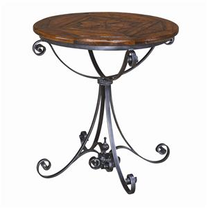 Theodore Alexander Tables Round Wood Top End Table