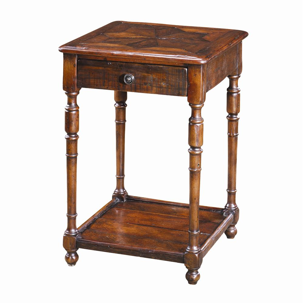 Tables Antique Wood End Table by Theodore Alexander at Baer's Furniture