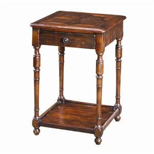 Traditional Antique Wood End Table
