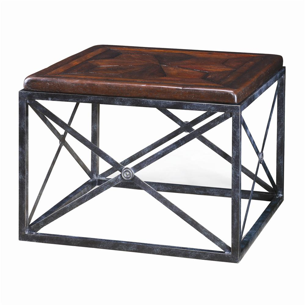 Tables Brass Campaign End Table by Theodore Alexander at Baer's Furniture