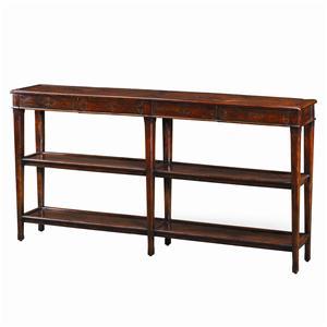 4 Drawer 2 Shelf Traditional Sofa Table