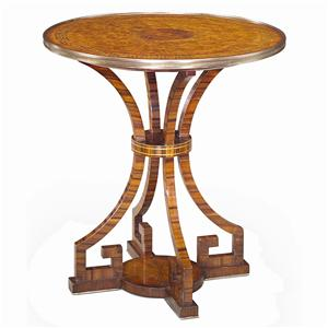 Contemporary Round Lamp End Table