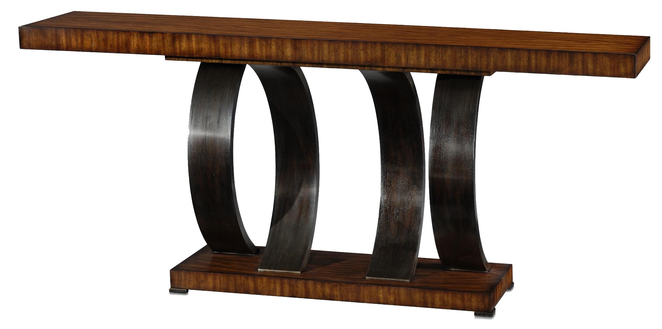 Vanucci Eclectics Walnut Console Table by Theodore Alexander at Baer's Furniture