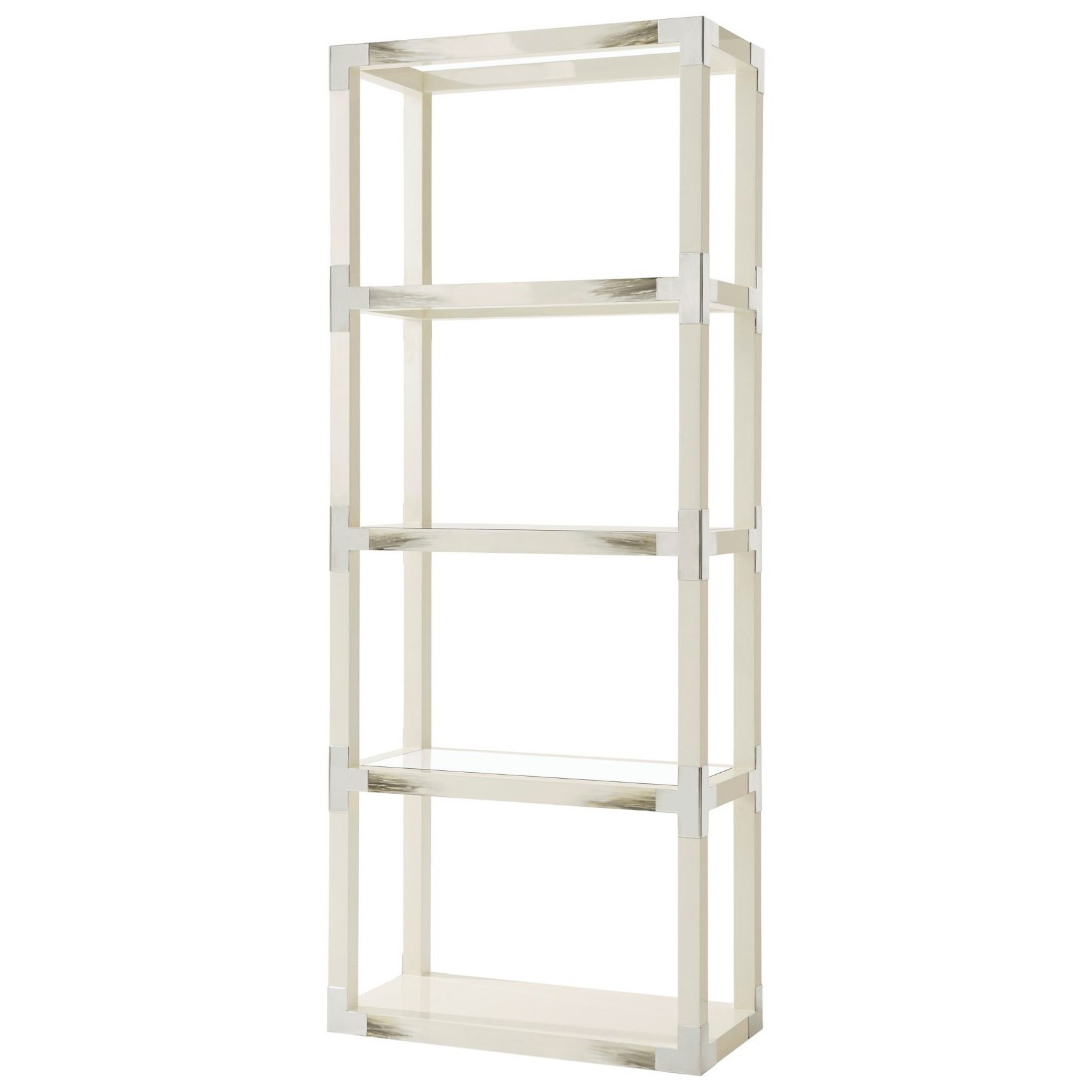Vanucci Eclectics Cutting Edge Etagere by Theodore Alexander at Baer's Furniture