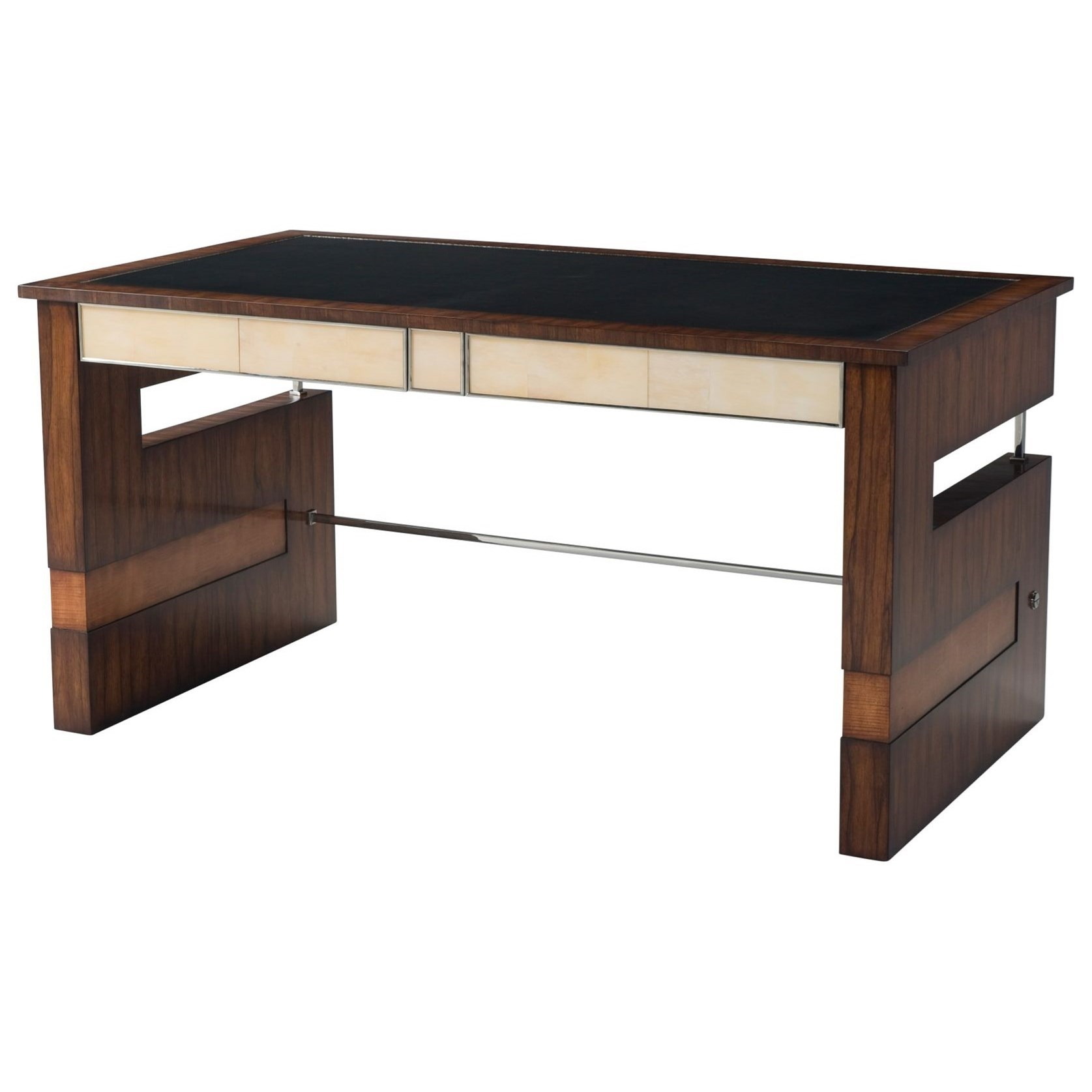 Vanucci Eclectics Striking Elements Writing Table by Theodore Alexander at Baer's Furniture