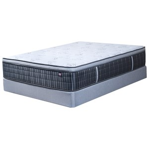 Twin Extra Long Pillow Top Pocketed Coil Mattress and Natural Wood Foundation