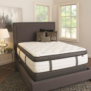 Queen Elite Luxury Plush, Coil on Coil Mattress and Heavy Wood Foundation