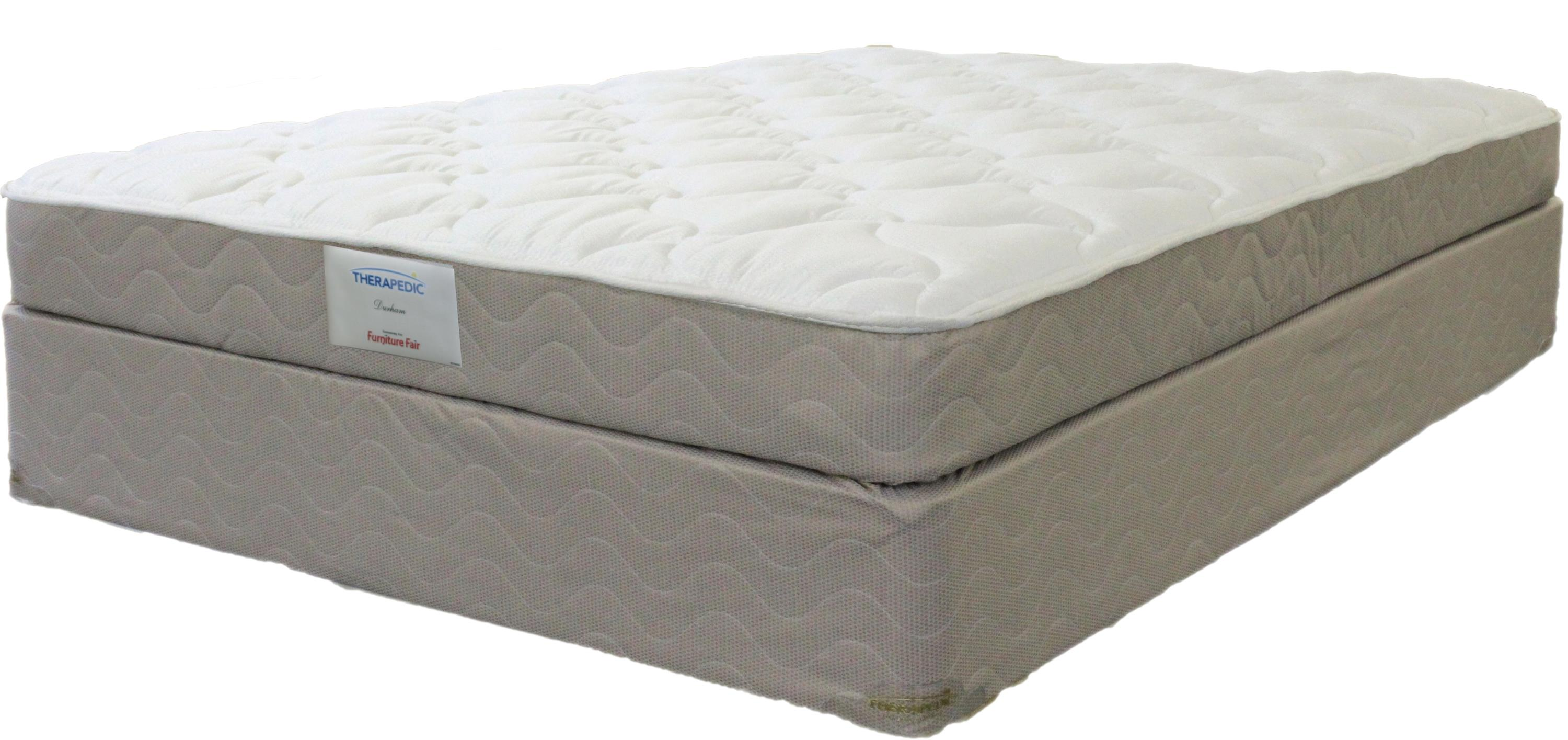 Kathy Ireland Finesse Full Luxury Firm Mattress Set by Therapedic at Nassau Furniture and Mattress