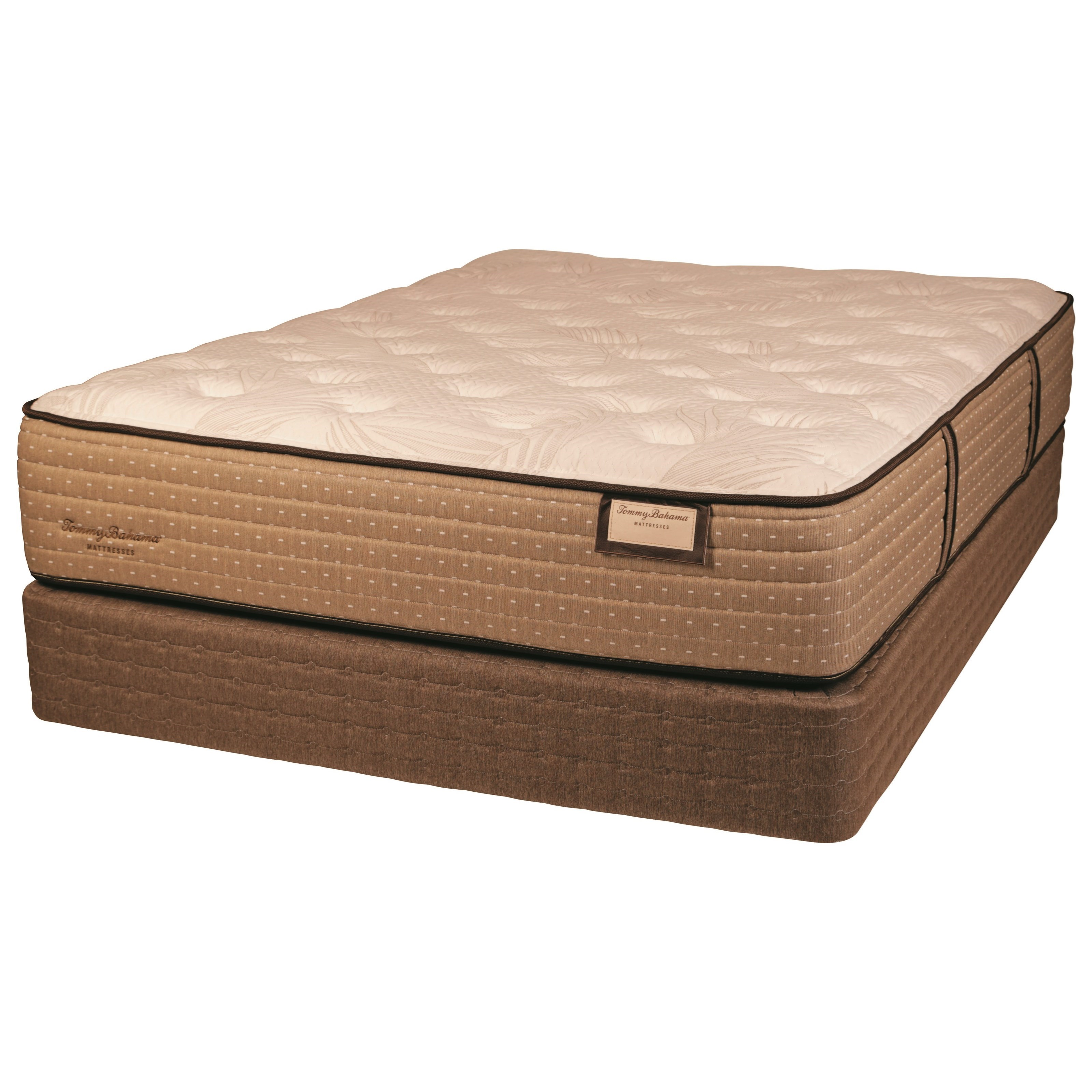 Tommy Bahama Shake the Sand Plush 6036 King Plush Luxry Low Profile Set by Tommy Bahama Mattress at Baer's Furniture