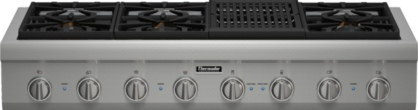 """Gas Cooktops - Thermador 48"""" 6 Burner Gas Rangetop by Thermador at Fisher Home Furnishings"""
