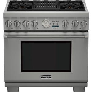 """36"""" Pro Grand® 4 Burner Gas Range with Electric Grill"""
