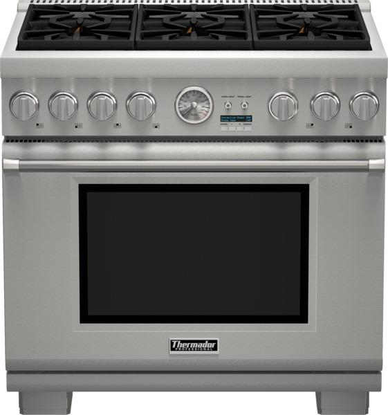 """Ranges - Thermador 36"""" Pro Grand® 6 Burner All Gas Range by Thermador at Fisher Home Furnishings"""