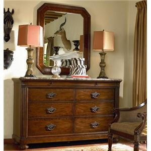 Thomasville® Ernest Hemingway  Malawi Dresser and Landscape Mirror