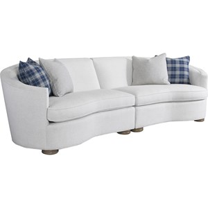 Modern Two Piece Curve Sectional Sofa