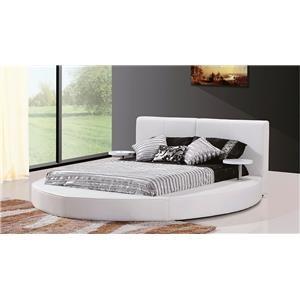 Modern Contemporary Platform Queen Bed Round