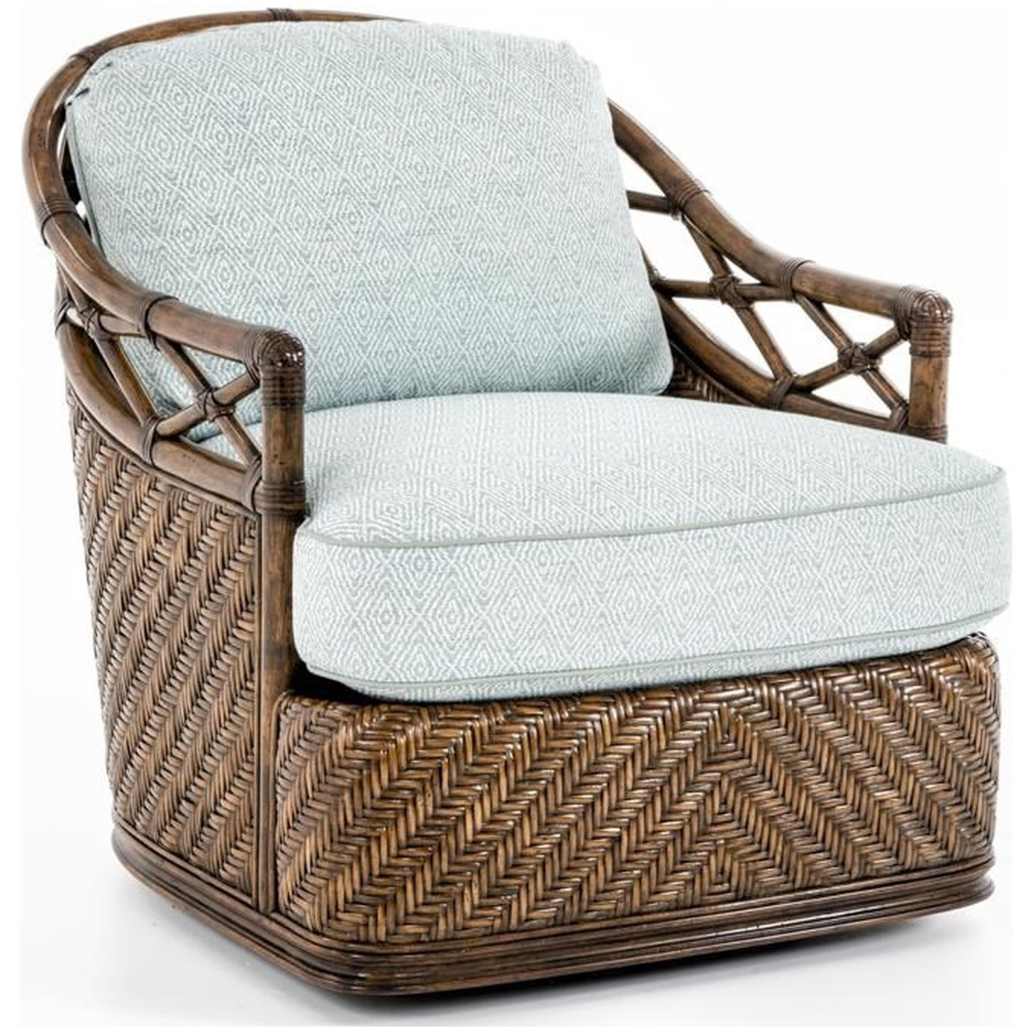 Bali Hai Diamond Cove Swivel Chair by Tommy Bahama Home at Baer's Furniture