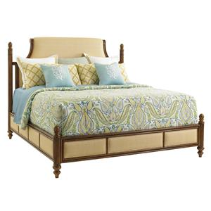 California King Orchid Bay Upholstered Panel Bed