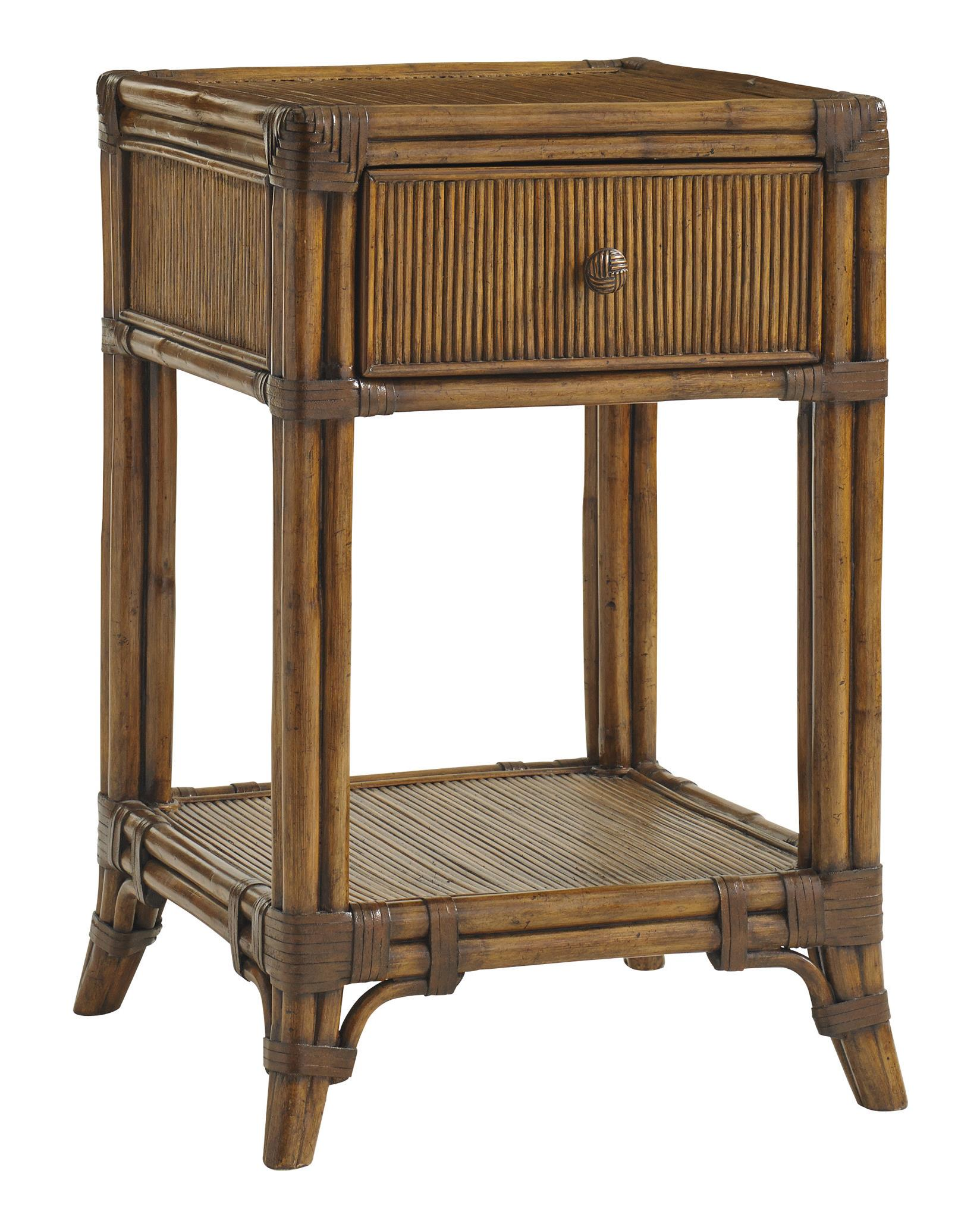 Bali Hai Del Sol Bedside Table by Tommy Bahama Home at Story & Lee Furniture