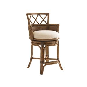 Tommy Bahama Home Bali Hai Customizable Kamala Bay Swivel Counter Stool