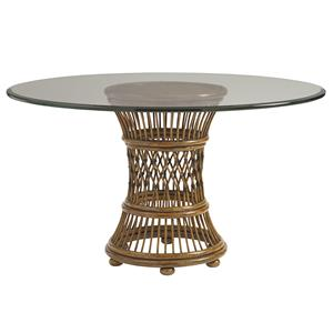 "48"" Round, Glass Dining Room Table"