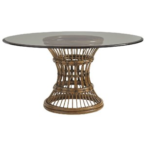 "Latitude 48"" Round Dining Table with Glass Top"