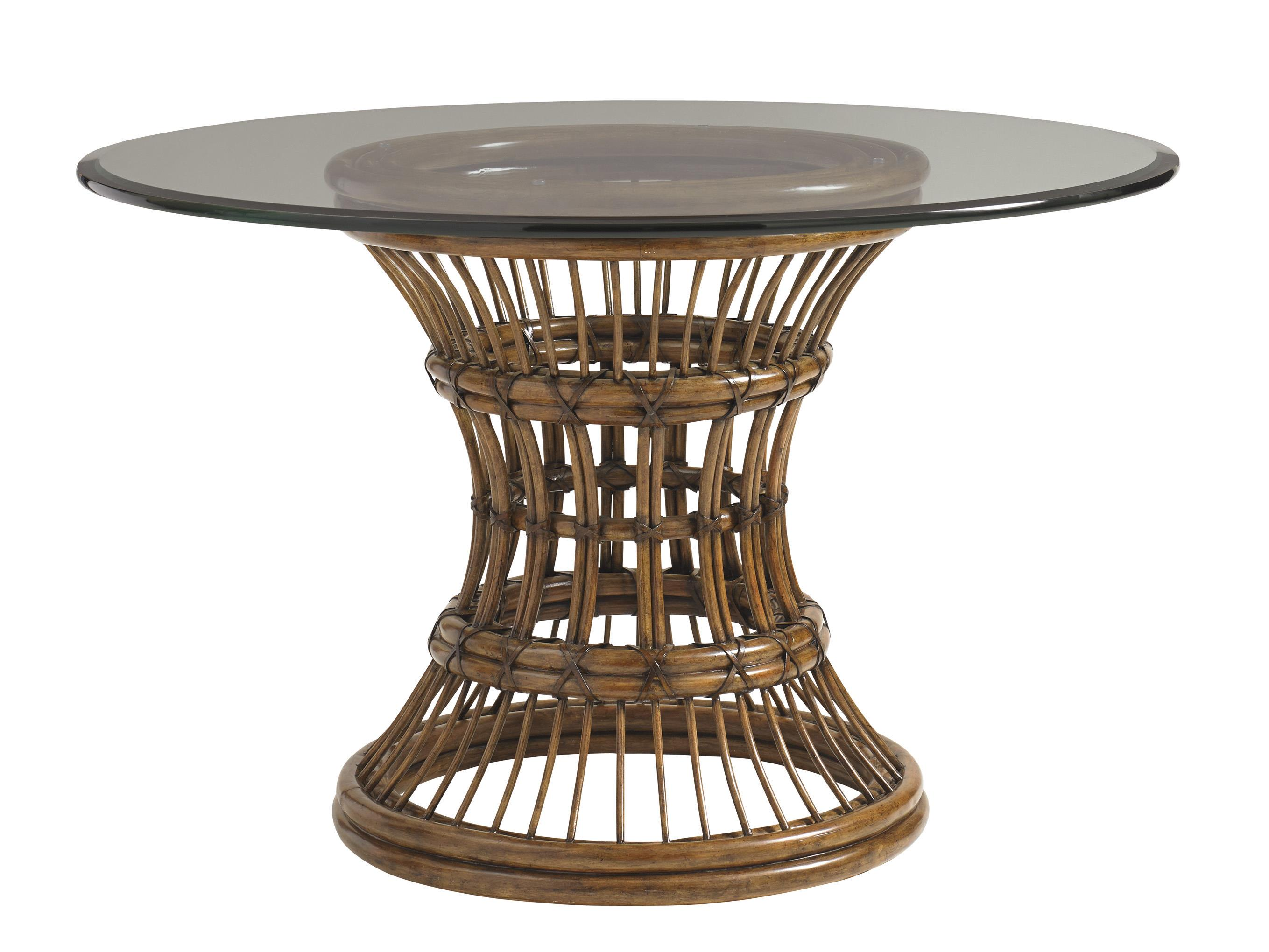 """Bali Hai 54"""" Round Glass Table by Tommy Bahama Home at Baer's Furniture"""