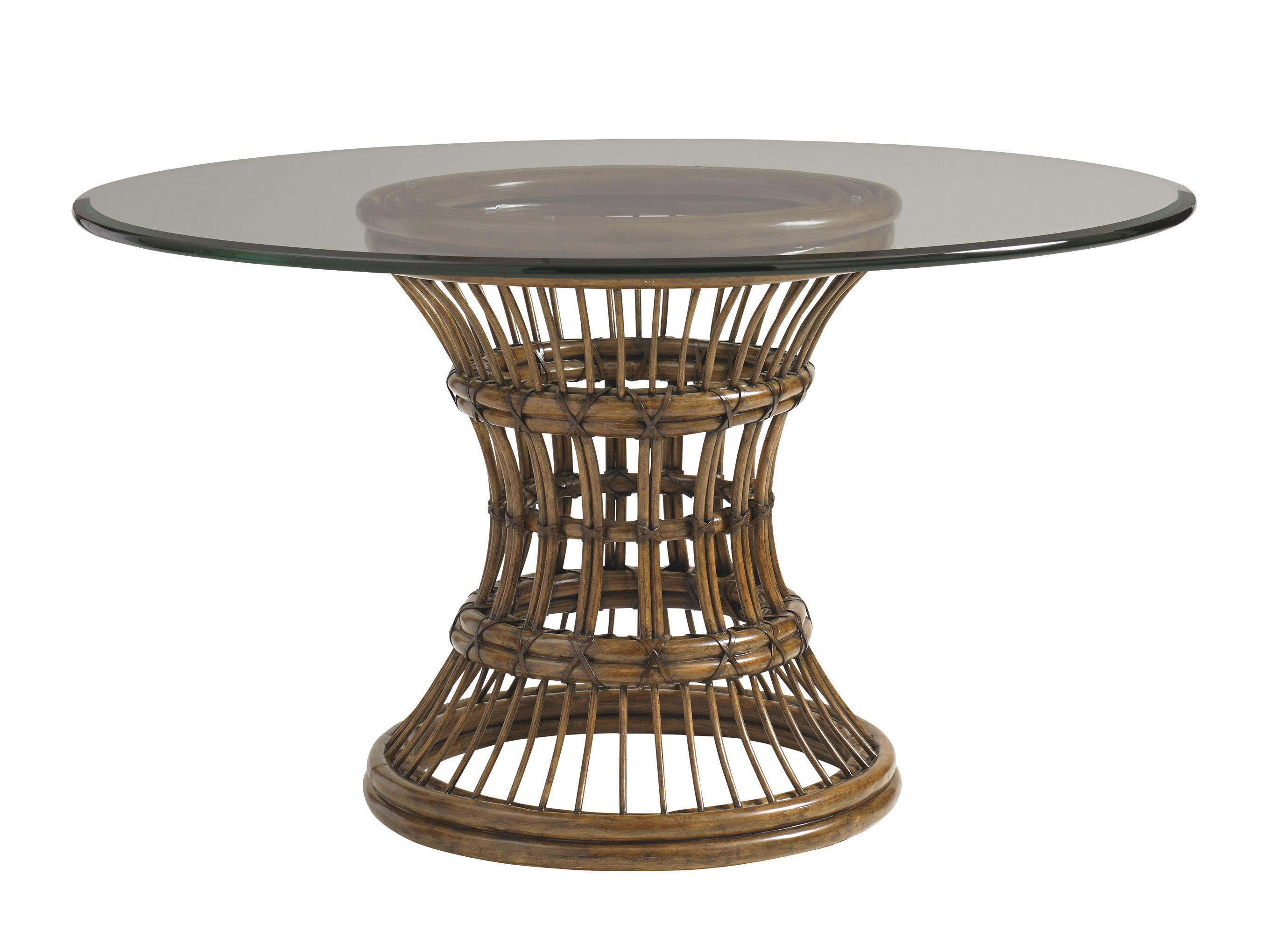 """Bali Hai 60"""" Round Glass Dining Table by Tommy Bahama Home at Baer's Furniture"""
