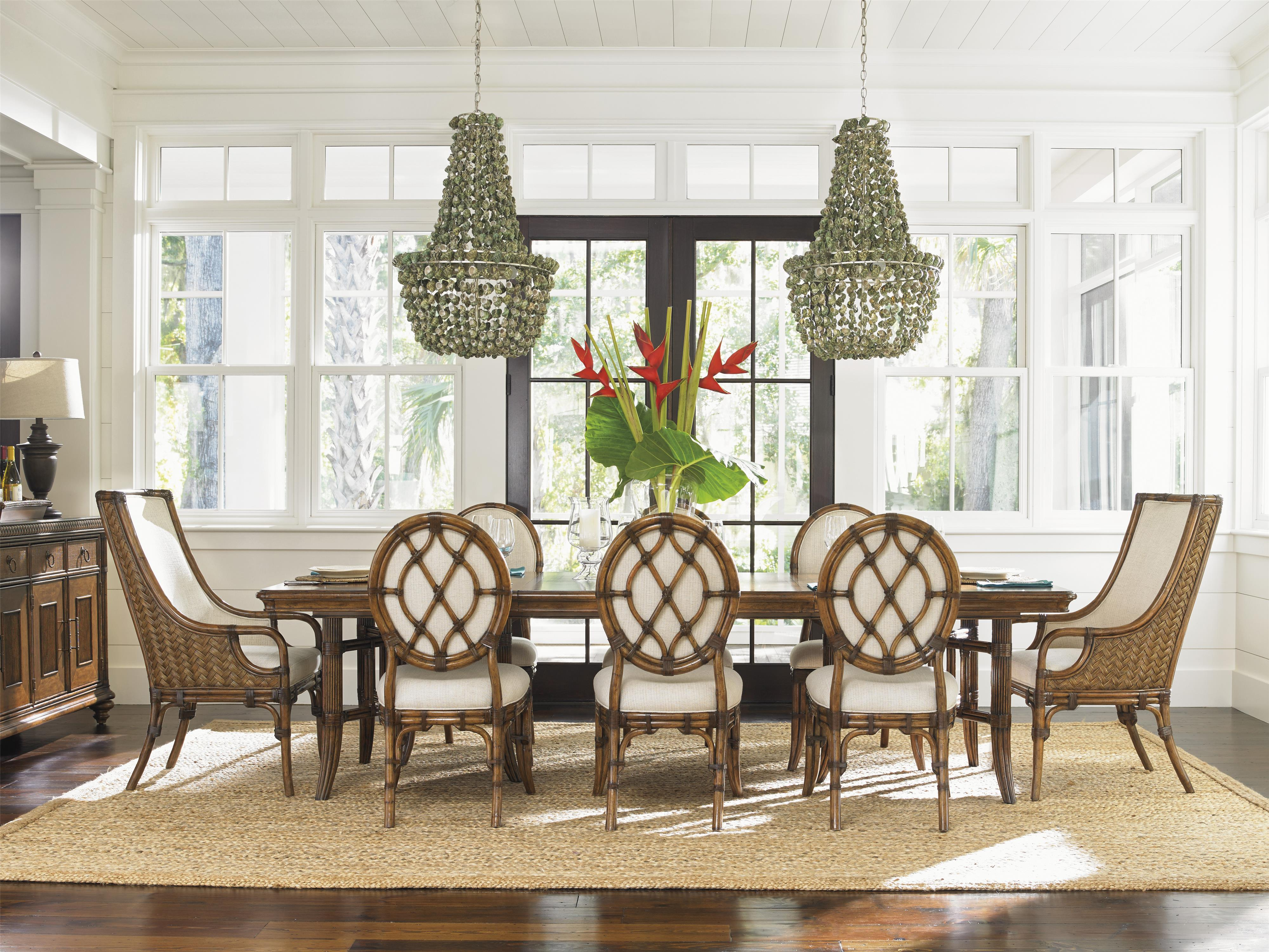 Bali Hai 9 Piece Dining Set by Tommy Bahama Home at Baer's Furniture