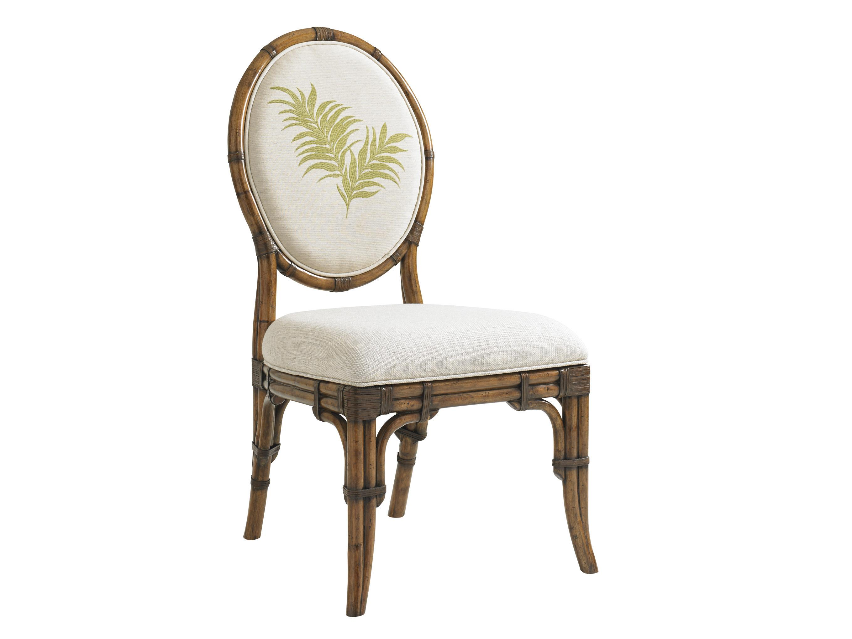 Bali Hai Quickship Gulfstream Oval Back Side Chair by Tommy Bahama Home at Baer's Furniture