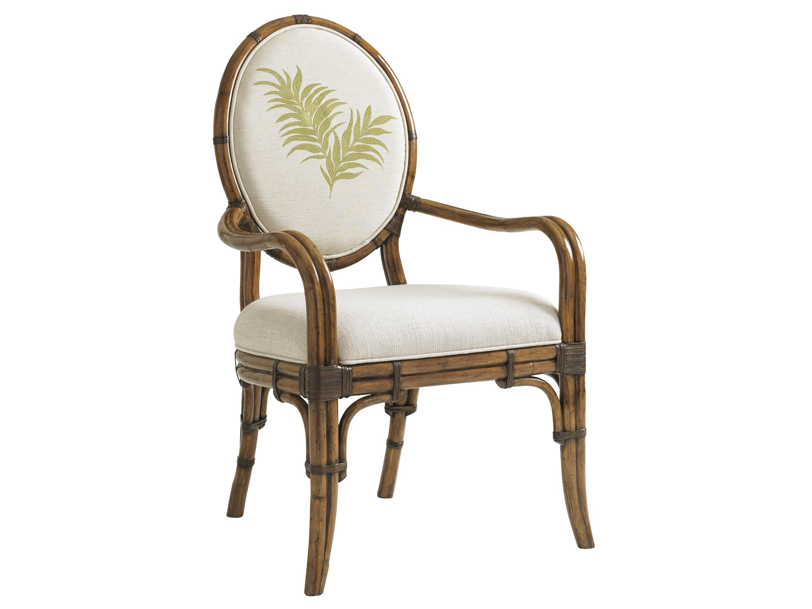 Bali Hai Quickship Gulfstream Oval Back Arm Chair by Tommy Bahama Home at Baer's Furniture