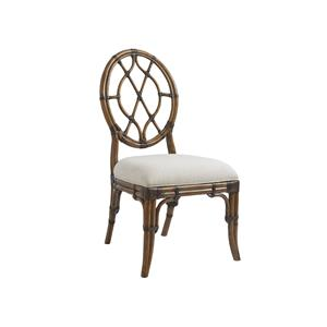 Tommy Bahama Home Bali Hai Custom Cedar Key Oval Back Side Chair