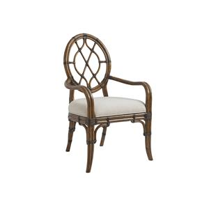 Quickship Cedar Key Oval Back Arm Chair