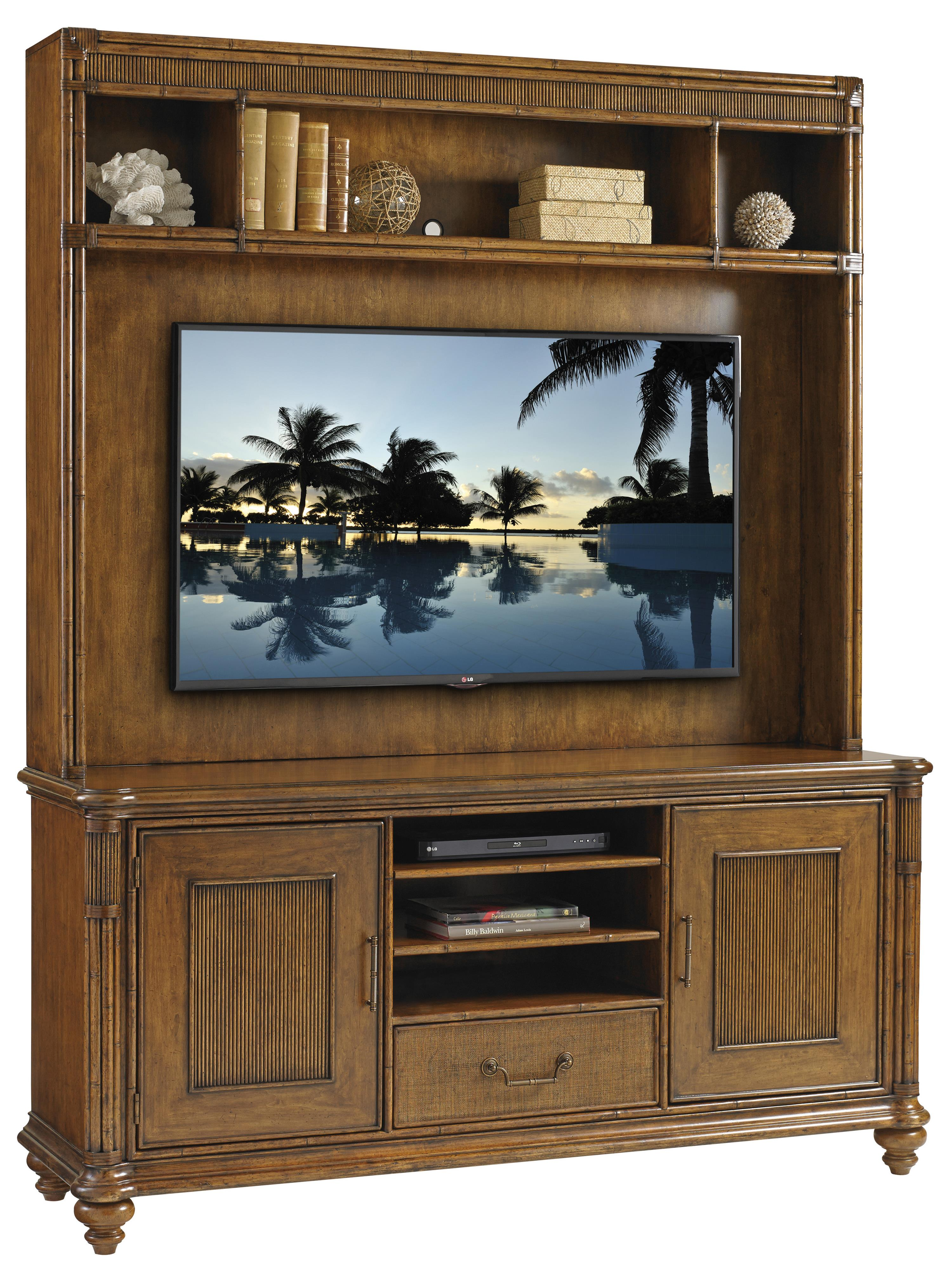 Bali Hai Pelican Cay Media Console and Hutch by Tommy Bahama Home at Baer's Furniture