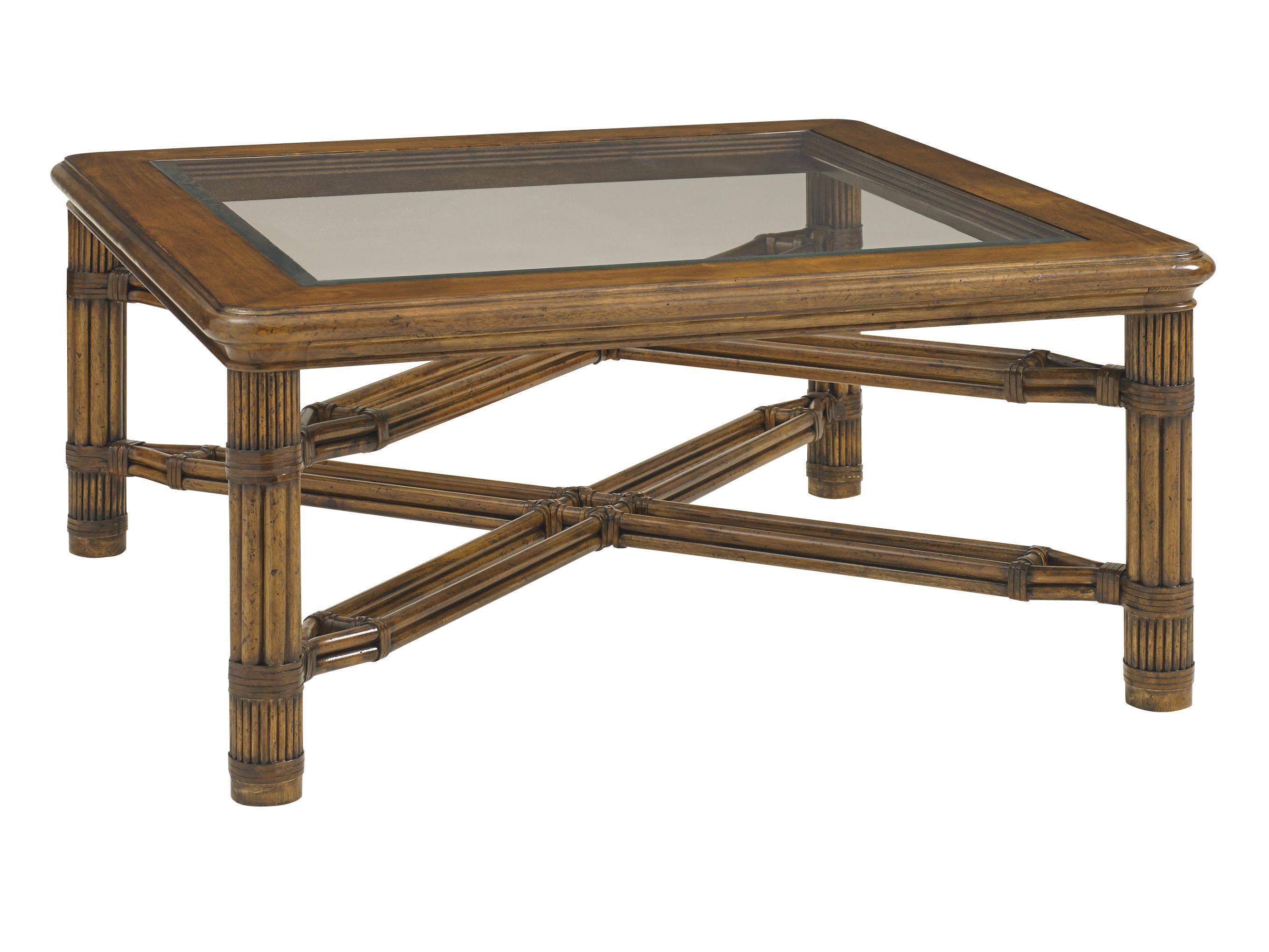 Bali Hai Capri Square Cocktail Table by Tommy Bahama Home at Baer's Furniture