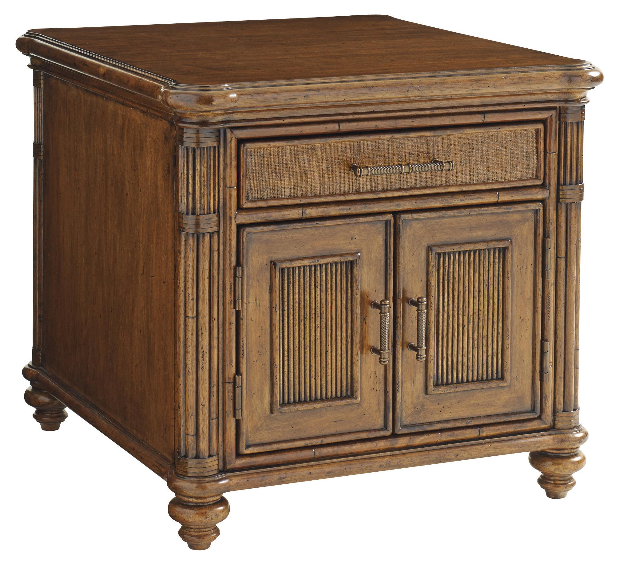 Bali Hai Mariner Storage End Table by Tommy Bahama Home at Baer's Furniture