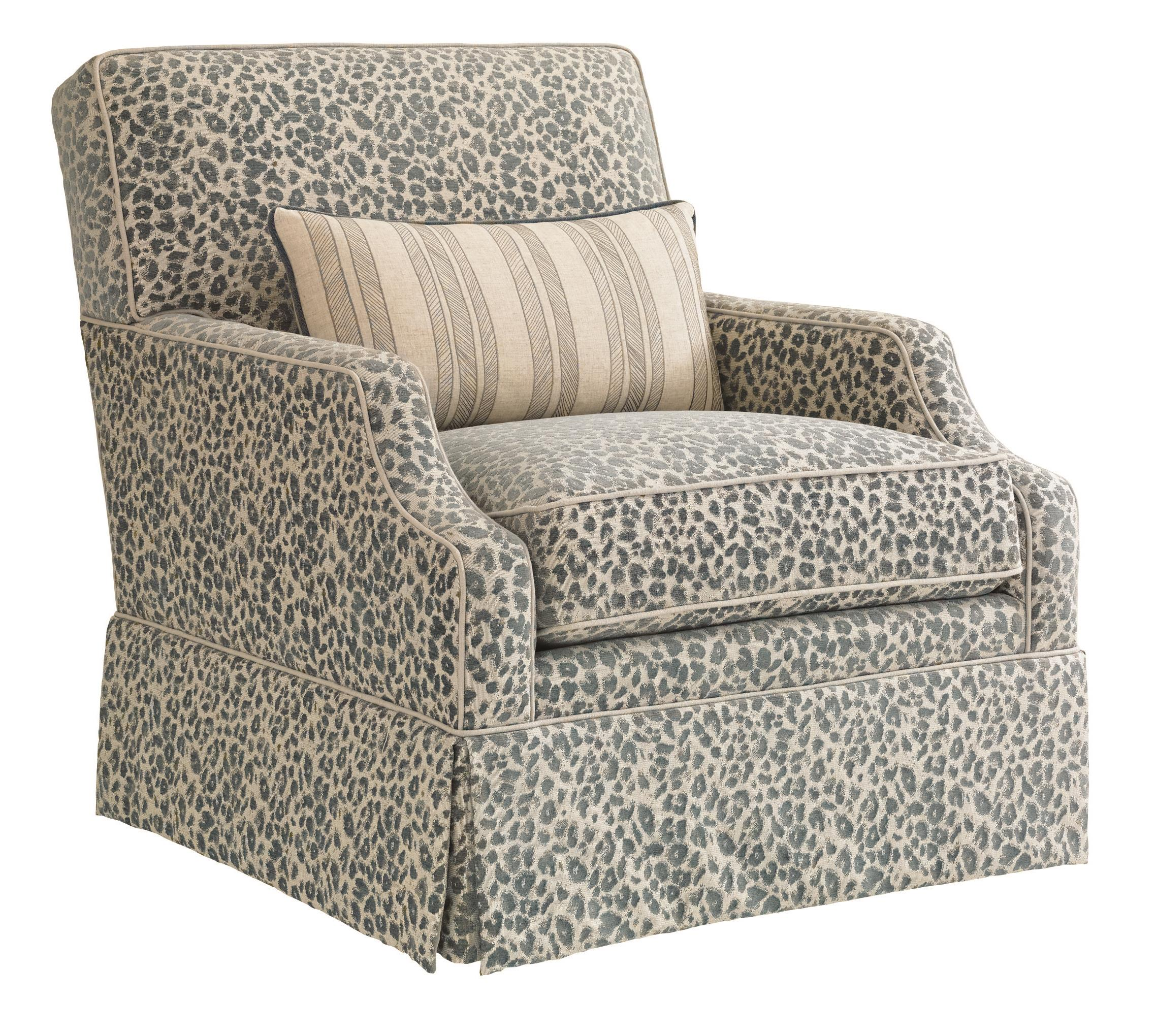 Bali Hai Courtney Swivel Chair by Tommy Bahama Home at Baer's Furniture